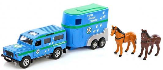 Фургон Пламенный мотор Land Rover Ветеринарная помощь голубой 14 см 870098
