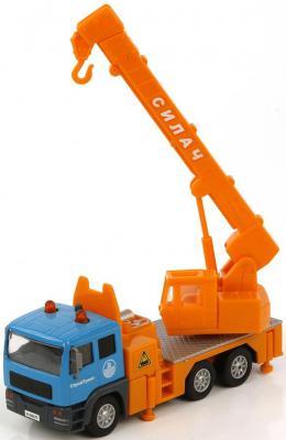 Кран Пламенный мотор 1:32 Строительный кран оранжевый 21 см