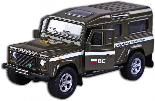 Машина Пламенный мотор 1:32 Landrover Defender ВС России зеленый 17.5 см 87507