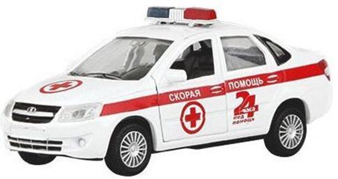 Скорая помощь Autotime LADA GRANTA бело-красный 14 см Р40517 autotime модель автомобиля uaz 39625 омон