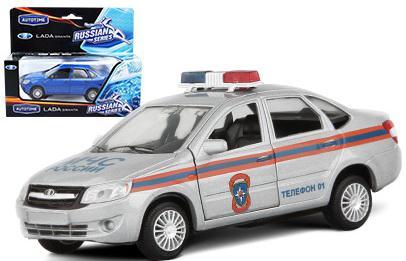 Полицейская машина Autotime LADA GRANTA МЧС 1:36 белый 14 см 33954