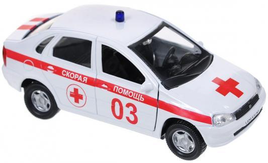 Скорая помощь Autotime Лада Калина бело-красный 14.5 см Р40517 машинки autotime машина lada kalina скорая помощь