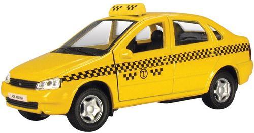 Автомобиль Autotime Лада Калина Такси желтый Р40517
