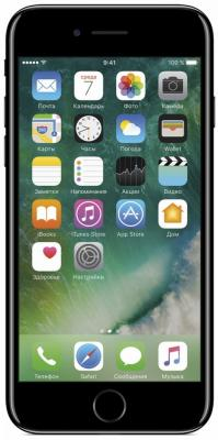 "Смартфон Apple iPhone 7 черный оникс 4.7"" 128 Гб NFC LTE Wi-Fi GPS 3G MN962RU/A"