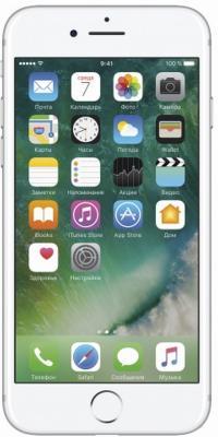 "Смартфон Apple iPhone 7 серебристый 4.7"" 256 Гб NFC LTE Wi-Fi GPS 3G MN982RU/A"