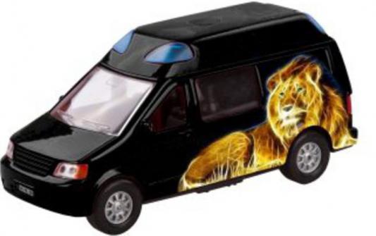 Автомобиль Пламенный мотор Аэрография 1:32 черный откр.двери, свет, звук