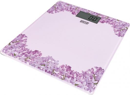 Весы напольные MYSTERY MES-1827 розовый рисунок