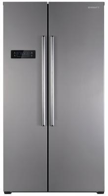 Холодильник Side by Side Kraft KF-F2660NFL белый серебристый холодильник side by side samsung rs 552 nrua9m wt