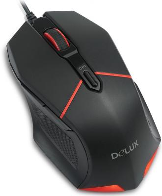 Мышь проводная Delux M601 чёрный USB мышь delux m375 черный usb