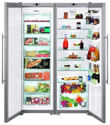 Холодильник Side by Side Liebherr SBSesf 7212-24 001 серебристый холодильник side by side samsung rs552nrua1j
