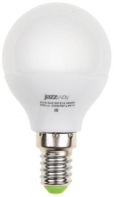 Лампа светодиодная шар JazzWay PLED- ECO-G45 E14 5W 3000K