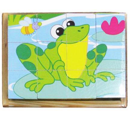 Кубики Mapacha В мире животных-3 от 1 года 12 шт