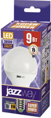 Лампа светодиодная шар JazzWay PLED-SP E27 9W 3000K