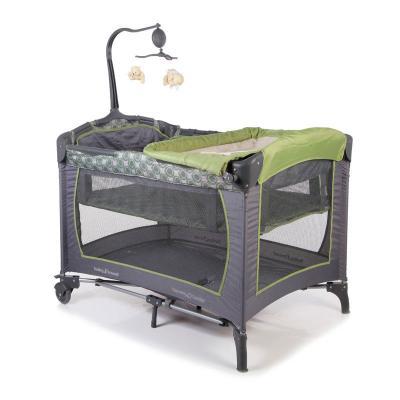 Манеж-кровать Baby Trend (серый/зеленый)