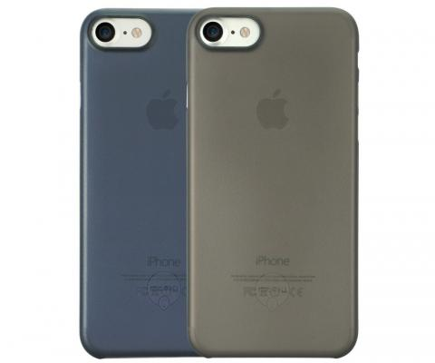 Набор чехлов Ozaki 0.3 Jelly для iPhone 7 чёрный синий OC720KD