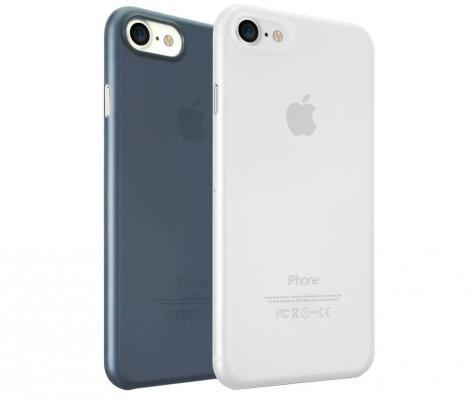 Набор чехлов Ozaki 0.3 Jelly для iPhone 7 прозрачный синий OC720CD