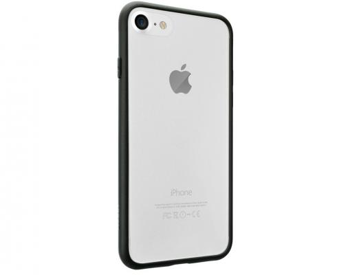 Бампер Ozaki O!coat 0.3 JELLY для iPhone 7 чёрный OC738BK pata 90635