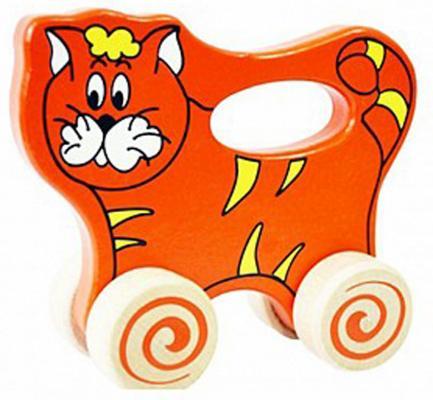 """Каталка Alatoys """"Котик"""" оранжевый от 1 года дерево ККТ01"""