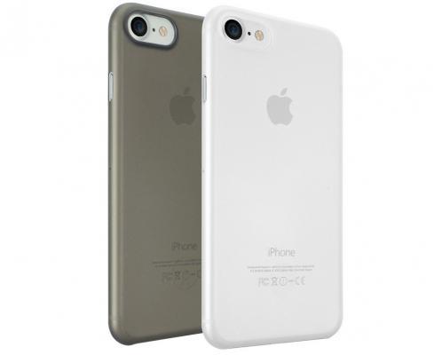Набор чехлов Ozaki 0.4 Jelly для iPhone 7 Plus чёрный прозрачный OC723CK