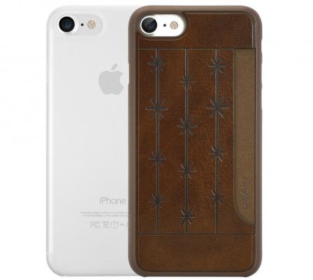 Набор чехлов Ozaki Jelly и Ozaki Pocket для iPhone 7 прозрачный коричневый OC722BC ozaki oc114rd red