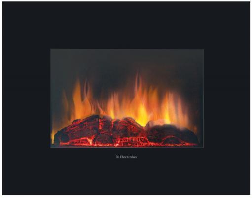 Электрокамин Electrolux EFP/W-1100ULS 1800 Вт пульт ДУ чёрный цена и фото