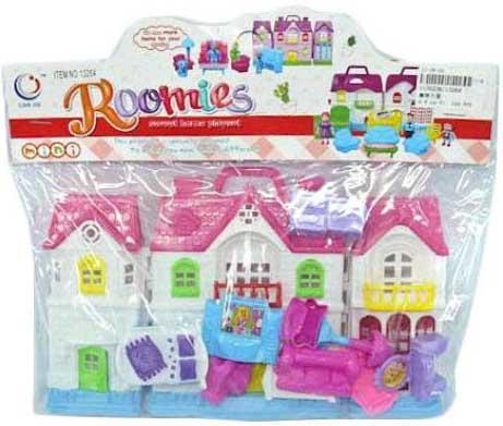 Купить Игровой набор Shantou Gepai Дом с мебелью 13264, для девочки, Домики и аксессуары
