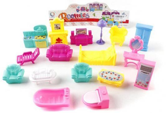 Набор мебели для куколки Shantou Gepai  квартира, цветная, 17 предм., пакет 15889C