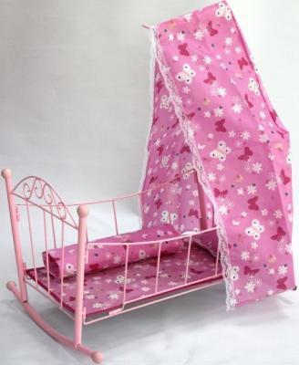 Кроватка-люлька для кукол Shantou Gepai 43699 с балдахином в ассортименте