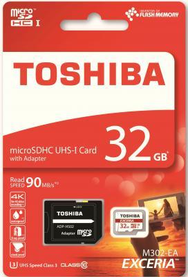 Карта памяти microSD 32Gb Class 10 Toshiba THN-M302R0320EA