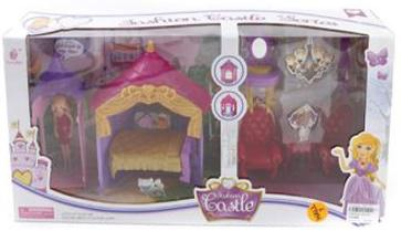 Набор мебели Shantou Gepai Princess Castle с куколкой в беседке SS010D