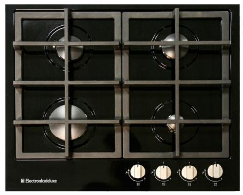 Варочная панель газовая Electronicsdeluxe TG4 750231F-040 черный варочная поверхность electronicsdeluxe tg4 750231f 040 black