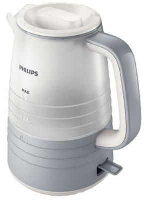 Чайник Philips HD9335/31 2200 Вт белый серый 1.5 л пластик чайник philips hd4646 40 2400 вт белый красный 1 5 л пластик