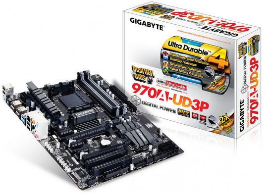 Мат. плата для ПК GigaByte GA-970A-UD3P V2.1 Socket AM3+ AMD 970 4xDDR3 2xPCI-E 16x 2xPCI 3xPCI-E 1x 6xSATAIII ATX Retail
