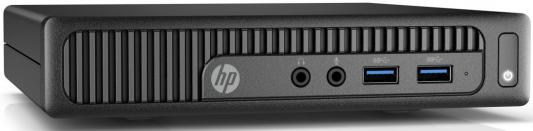 ПК HP 260 G2 DM Cel 3855U/4Gb/500Gb/HDG/Windows 10 Single Language 64/GbitEth/WiFi/BT/клавиатура/мышь/черный