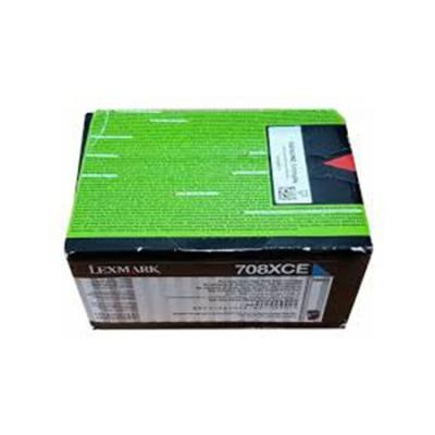 Картридж Lexmark 70C8XCE для CS510de CS510dte голубой 4000стр тонер картридж для лазерных аппаратов lexmark cs510de cs510dte black extra high yield corporate cartridge 8k 70c8xke