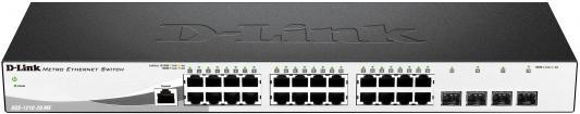 Коммутатор D-Link DGS-1210-28/ME/A2A управляемый 24 порта 10/100/1000Mbps 4xSFP