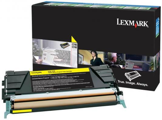 Картридж Lexmark C746A3YG для C74x желтый compatible toner lexmark c930 c935 printer laser use for lexmark refill toner c940 c945 toner bulk toner powder for lexmark x940