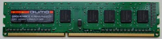 Оперативная память 4Gb PC3-12800 1600MHz DDR3 DIMM QUMO QUM3U-4G1600C11