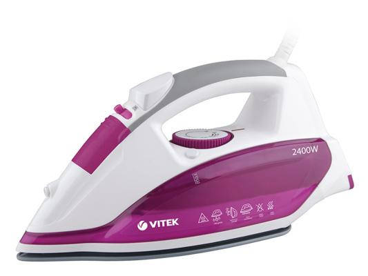 цена на Утюг Vitek VT-1262 PK 2400Вт розовый белый VT-1262(PK)