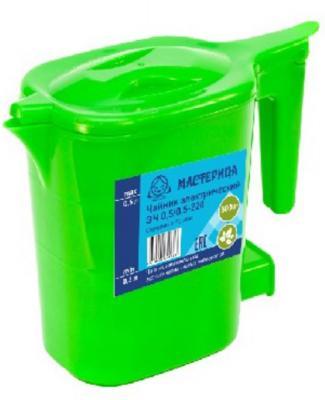 Чайник Мастерица ЭЧ 500 Вт зелёный 0.5 л пластик