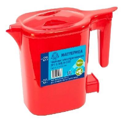 Чайник Мастерица ЭЧ 500 Вт красный 0.5 л пластик