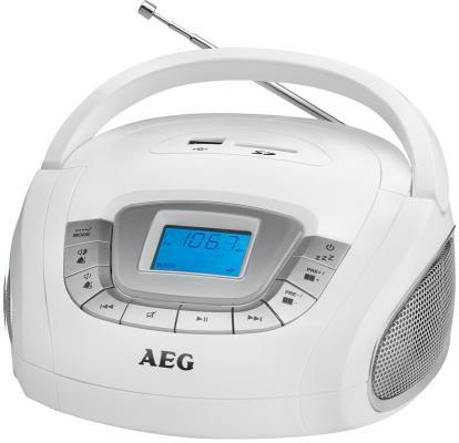 Магнитола AEG SR 4373 weiss магнитола aeg sr 4372 белый