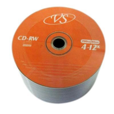 Диски VS CD-RW 700Mb 12x Bulk/50 диск dvd r 4 7gb 16x bulk 50 шт vs