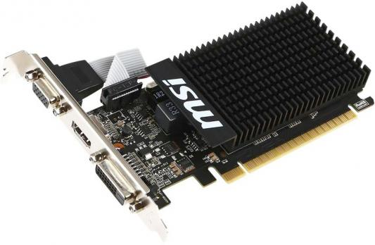 Видеокарта 2048Mb MSI GeForce GT710 PCI-E GDDR3 64bit DVI HDMI VGA HDCP GT 710 2GD3 LP Retail