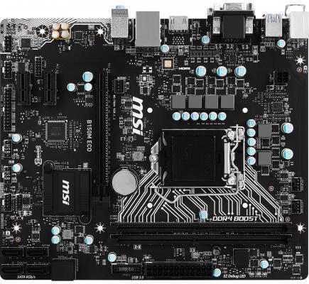 Мат. плата для ПК MSI B150M ECO Socket 1151 B150 2xDDR4 1xPCI-E 16x 2xPCI 2xPCI-E 1x mATX