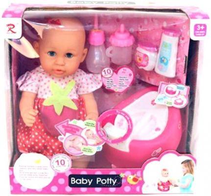Пупс Shantou Gepai Baby Potty в красном платье 40 см писающая пьющая 8930 кукла младенец shantou gepai 8018l4 35 см писающая пьющая