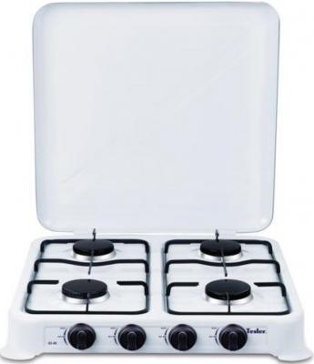 Газовая плита TESLER GS-40 белый мультиварка tesler 500 челябинск
