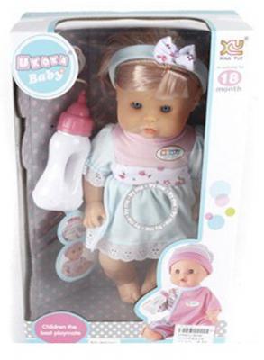 Кукла-младенец Shantou Gepai 30 см плачущая со звуком пьющая смеющаяся писающая 6927713492110