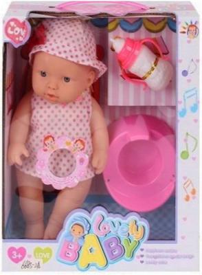 Пупс Shantou Gepai Lovely Baby 28 см со звуком писающая пьющая 6683-2A