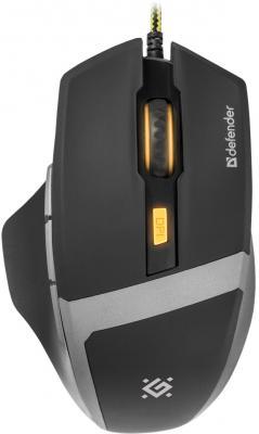 Мышь проводная DEFENDER Warhead GM-1740 чёрный USB 52740 цена